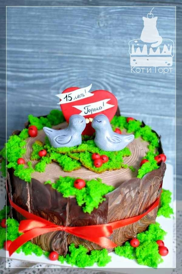 Торт на 15 лет свадьбы