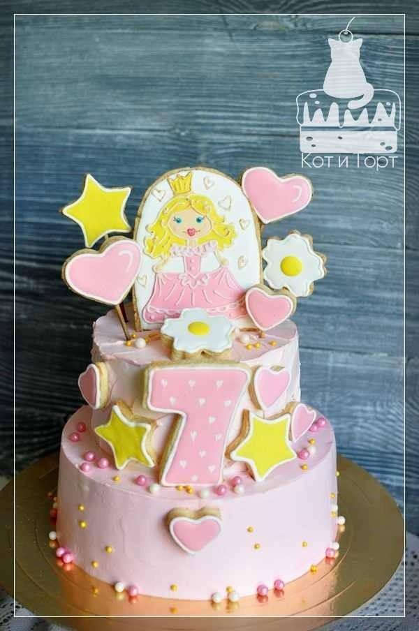 Торт для принцессы на 7 лет