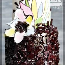 Торт с карамельной крошкой