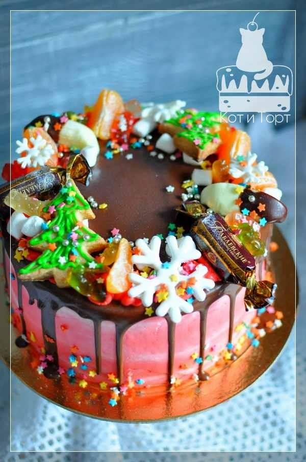 Простой новогодний торт