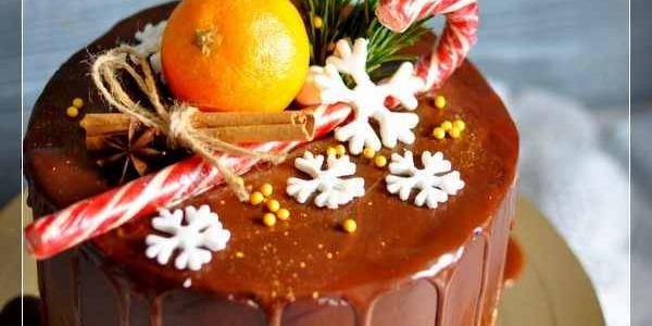 Шоколадный новогодний торт
