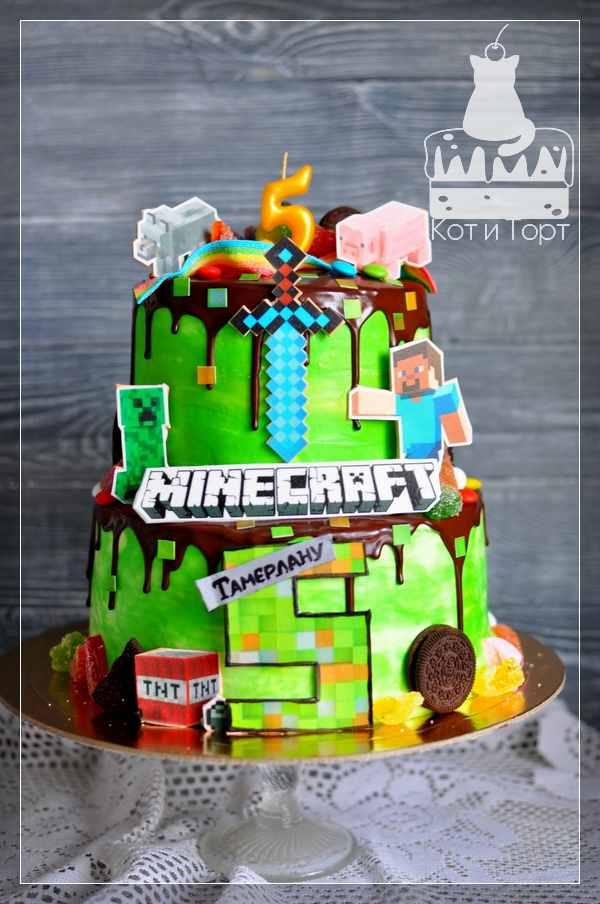 Торт Minecraft для Тамерлана