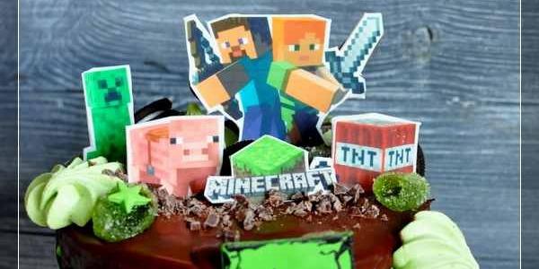 Торт Minecraft для Вани