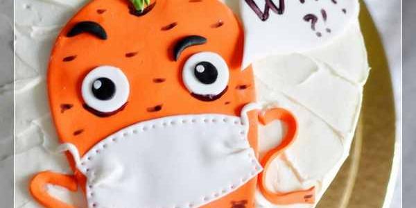Морковный торт с морковкой в маске