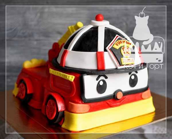Торт Поли-робокар с Роем