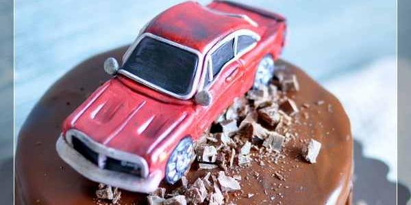 Торт с машиной Додж