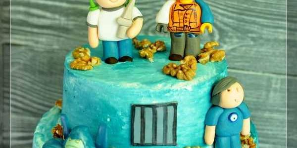 Торт с друзьями именинника