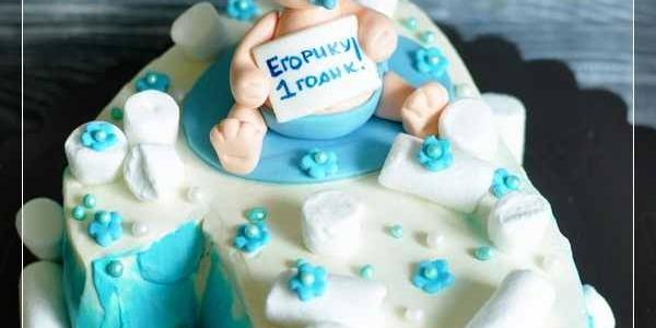 Торт на 1 год для мальчика