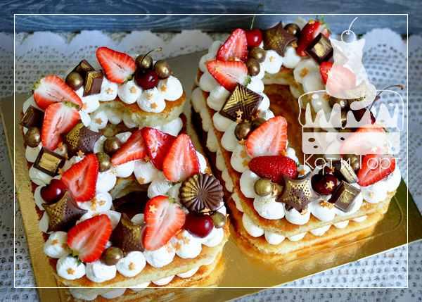 Торт-цифра 60