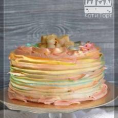 Нежный перламутровый торт