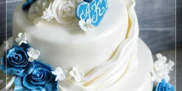 Двухъярусный свадебный торт