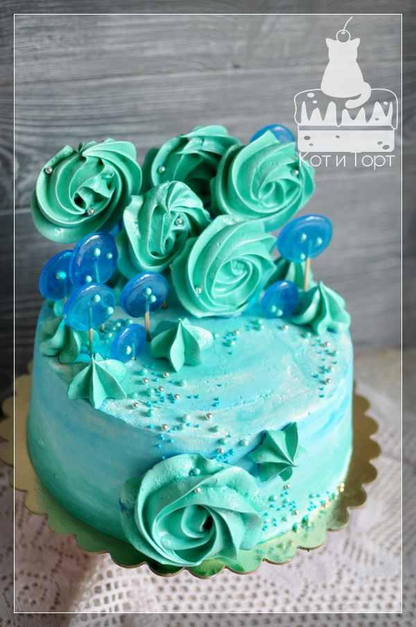 Бирюзовый торт