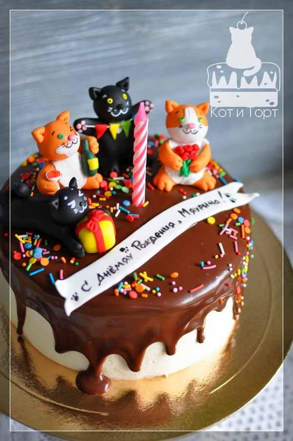 Торт с котиками