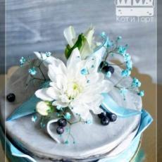 Стильный торт с цветком
