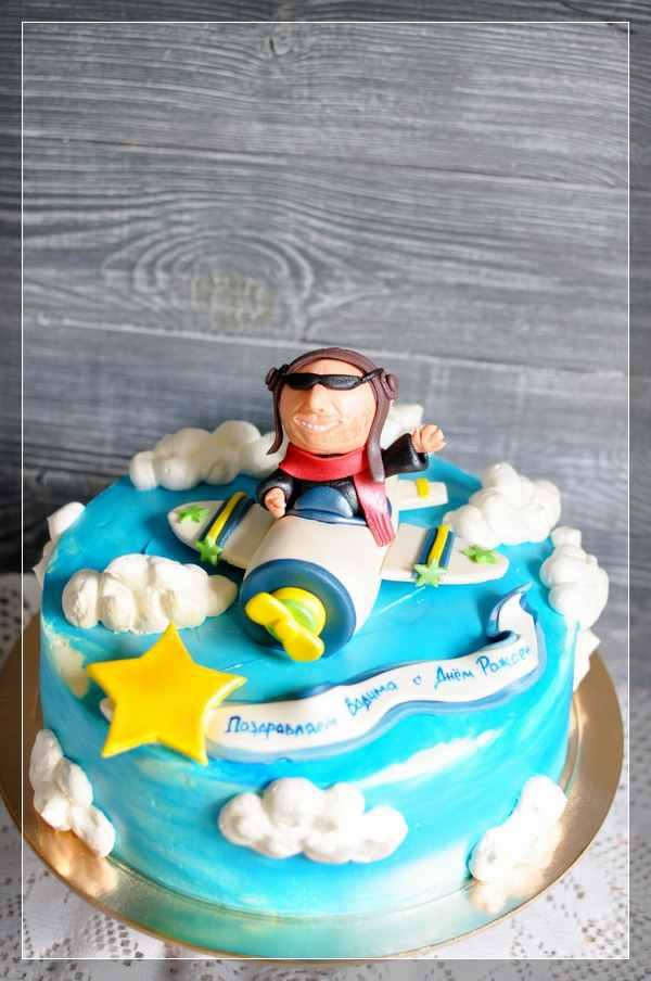 Торт с лётчиком