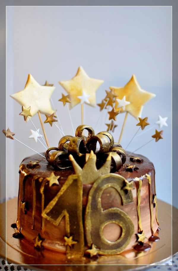 Шоколадный торт со звёздами