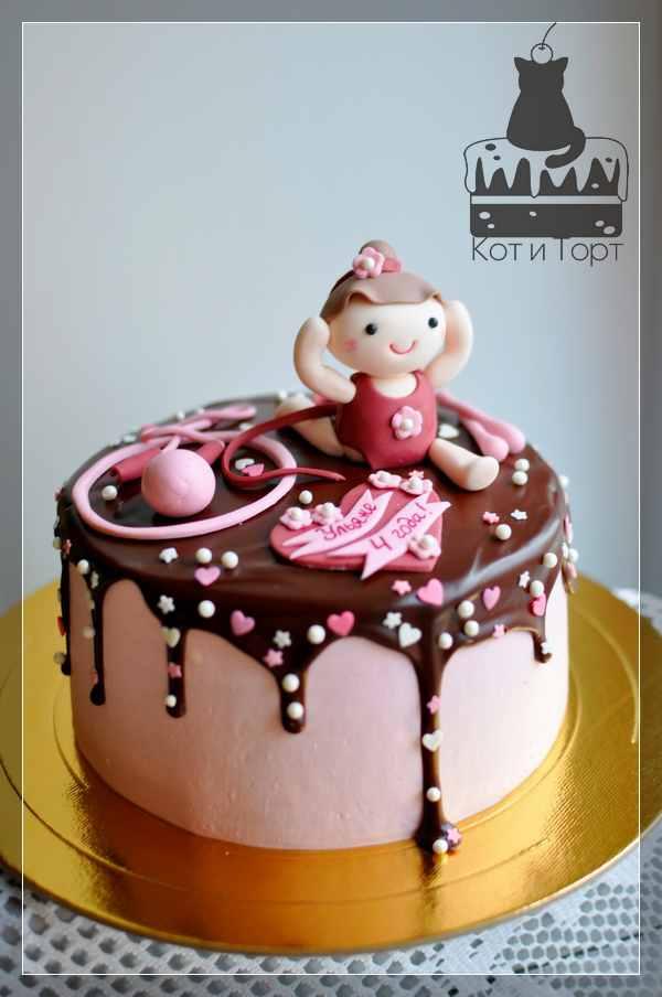 Торт для маленькой гимнастки