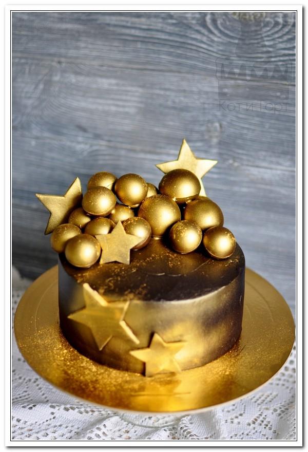 Золотой шоколадный торт
