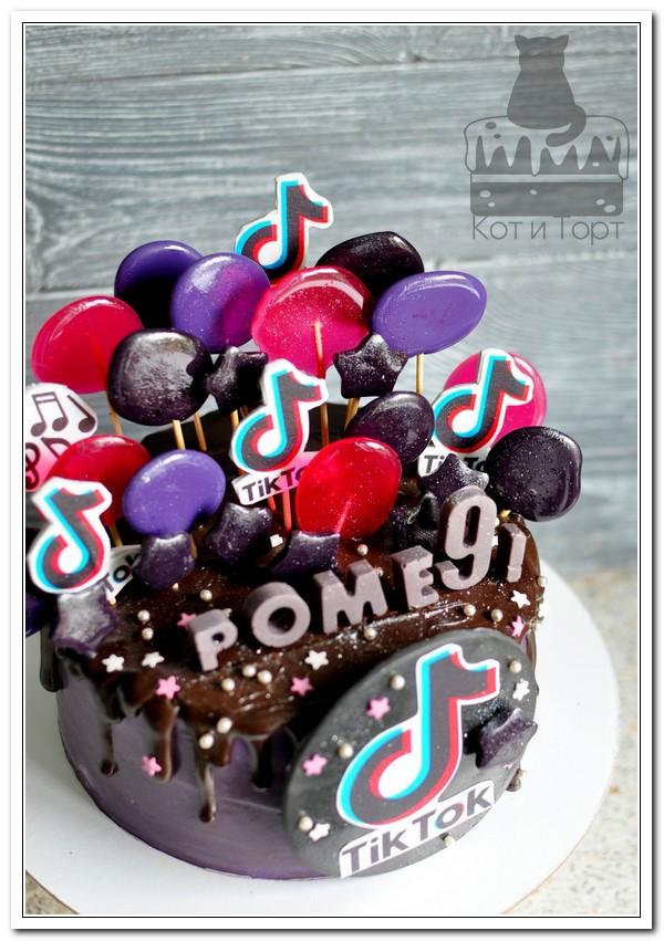 Торт для тиктокера