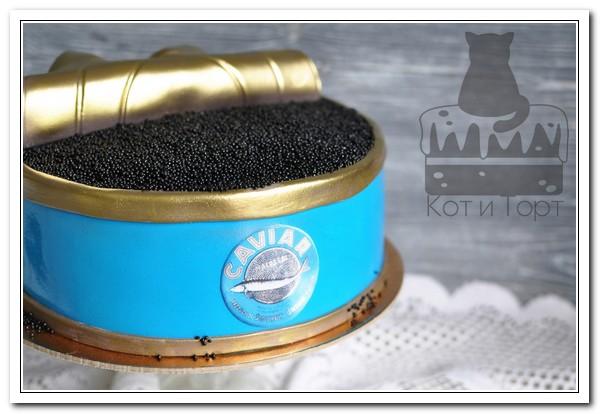Торт с «чёрной икрой»
