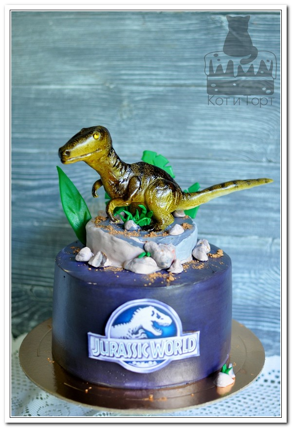 Торт с тиранозавром